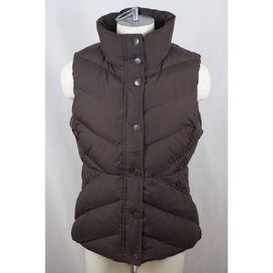 J CREW Quilted Snap Button Vest Puffer Down Jacket